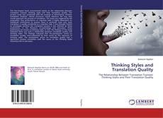 Copertina di Thinking Styles and Translation Quality