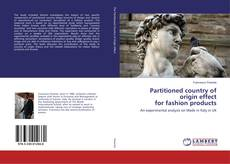 Capa do livro de Partitioned country of origin effect for fashion products