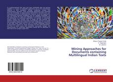 Couverture de Mining Approaches for Documents containing Multilingual Indian Texts