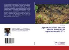 Bookcover of Legal Implications of Land Tenure Insecurity in Implementing REDD+