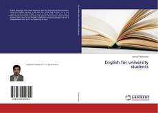 Bookcover of English for university students