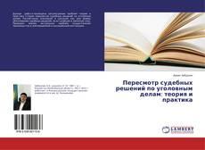 Bookcover of Пересмотр судебных решений по уголовным делам: теория и практика