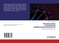 Bookcover of Независимое множество наибольшей мощности