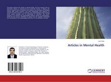 Обложка Articles in Mental Health