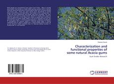 Buchcover von Characterization and functional properties of some natural Acacia gums