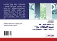 Обложка Моделирование тепломассопереноса при центробежном выпаривании раствора