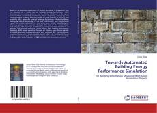 Buchcover von Towards Automated Building Energy Performance Simulation