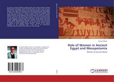 Bookcover of Role of Women in Ancient Egypt and Mesopotamia