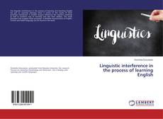 Обложка Linguistic interference in the process of learning English