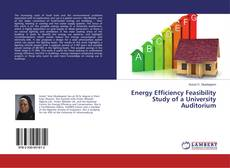 Bookcover of Energy Efficiency Feasibility Study of a University Auditorium