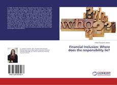 Buchcover von Financial Inclusion: Where does the responsibility lie?