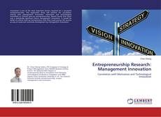 Couverture de Entrepreneurship Research: Management Innovation