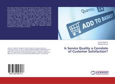 Buchcover von Is Service Quality a Correlate of Customer Satisfaction?