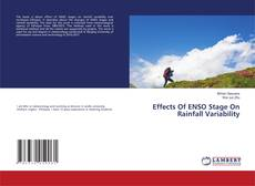 Bookcover of Effects Of ENSO Stage On Rainfall Variability
