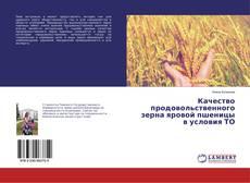 Bookcover of Качество продовольственного зерна яровой пшеницы в условия ТО