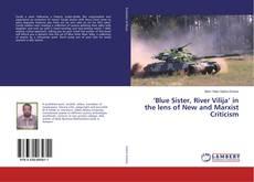 Capa do livro de 'Blue Sister, River Vilija' in the lens of New and Marxist Criticism