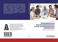 Buchcover von Формирование институциональных основ антикризисного управления