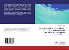 Обложка Financial Inclusion of Micro, Small and Medium Enterprises in Nigeria