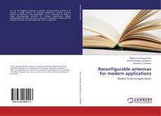 Reconfigurable antennas for modern applications kitap kapağı