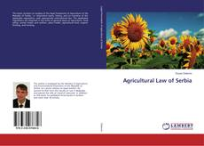 Bookcover of Agricultural Law of Serbia