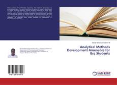 Copertina di Analytical Methods Development Amenable for Bsc Students
