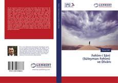 Fehîm-i Sânî (Süleyman Fehîm) ve Dîvânı kitap kapağı