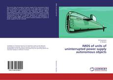 Buchcover von IMOS of units of uninterrupted power supply autonomous objects