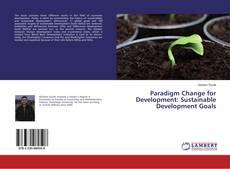 Buchcover von Paradigm Change for Development: Sustainable Development Goals