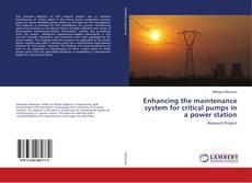Bookcover of Enhancing the maintenance system for critical pumps in a power station