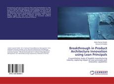 Bookcover of Breakthrough in Product Architecture Innovation using Lean Principals