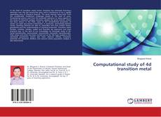 Обложка Computational study of 4d transition metal