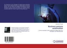 Bookcover of Business process automation