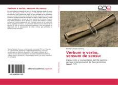 Capa do livro de Verbum e verbo, sensum de sensu: