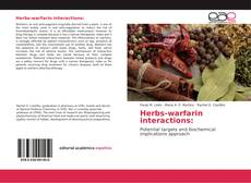 Capa do livro de Herbs-warfarin interactions: