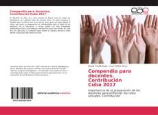 Portada del libro de Compendio para docentes. Contribución Cuba 2017