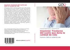 Portada del libro de Insomnio: Trastorno del sueño que daña la calidad de vida