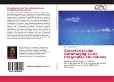 Capa do livro de Caracterización Gerontagógica de Programas Educativos