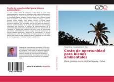 Capa do livro de Costo de oportunidad para bienes ambientales