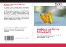 Buchcover von Acciones resilientes para familias colombianas