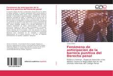 Buchcover von Fenómeno de anticipación de la barrera punitiva del Derecho penal