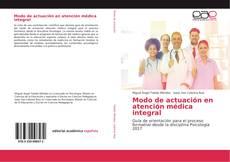 Portada del libro de Modo de actuación en atención médica integral