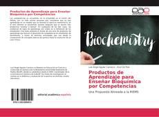 Capa do livro de Productos de Aprendizaje para Enseñar Bioquímica por Competencias