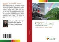Tecnologias de Remediação de Solos - Volume 1 kitap kapağı