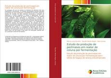 Capa do livro de Estudo da produção de pectinases em reator de coluna por fermentação