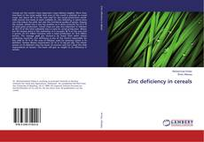 Portada del libro de Zinc deficiency in cereals