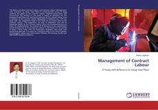 Bookcover of Management of Contract Labour