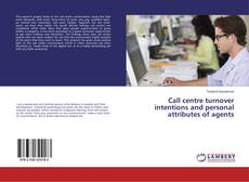 Buchcover von Call centre turnover intentions and personal attributes of agents