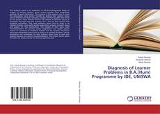 Copertina di Diagnosis of Learner Problems in B.A.(Hum) Programme by IDE, UNISWA