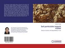 Buchcover von Soil particulate organic matter