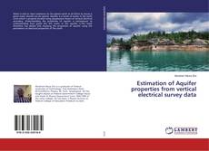 Обложка Estimation of Aquifer properties from vertical electrical survey data